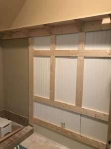 cheap board and batten on wall