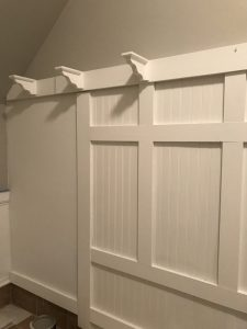 Adding white corbels for shelf support