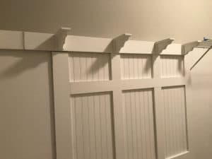Finished adding the corbels to wall