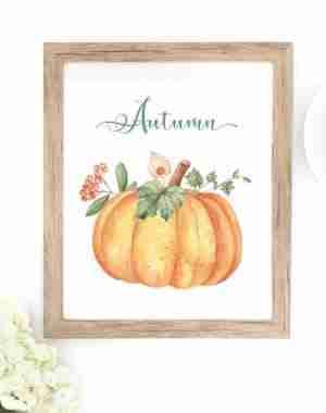 購読者のための無料の印刷物秋のカボチャの秋の葉は、印刷可能な無料