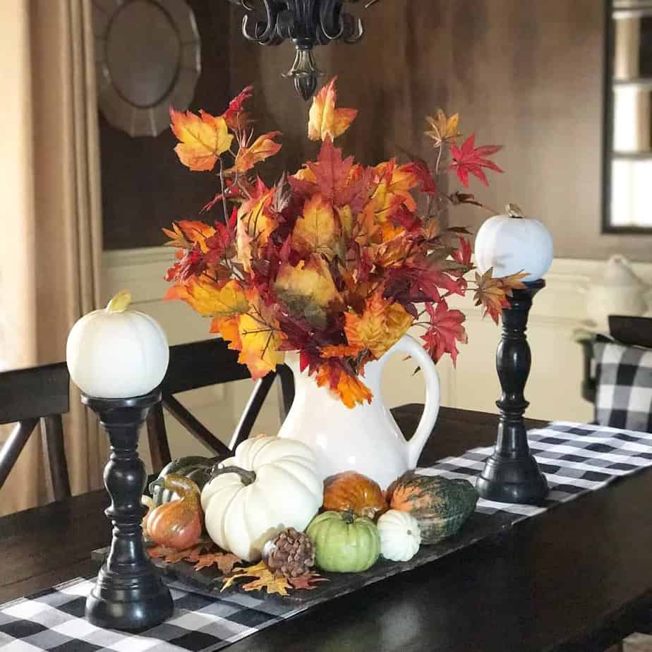 Colors of Autumn in the Dining Room
