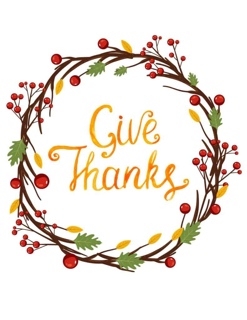 Thanksgiving Day, Give Thanks