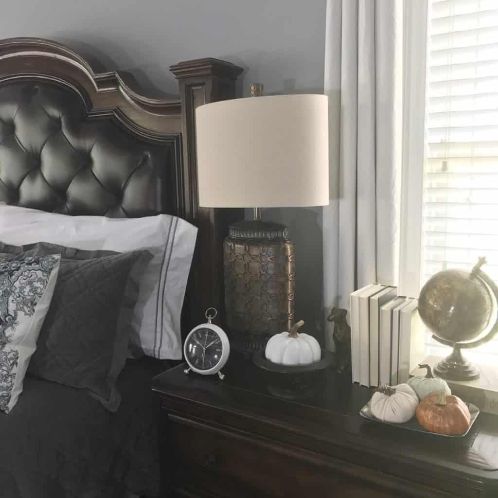 Fall Home Tour in Master Bedroom, Fall, Autumn, Harvest Home, Pumpkins, Leaves, October, Home Decor