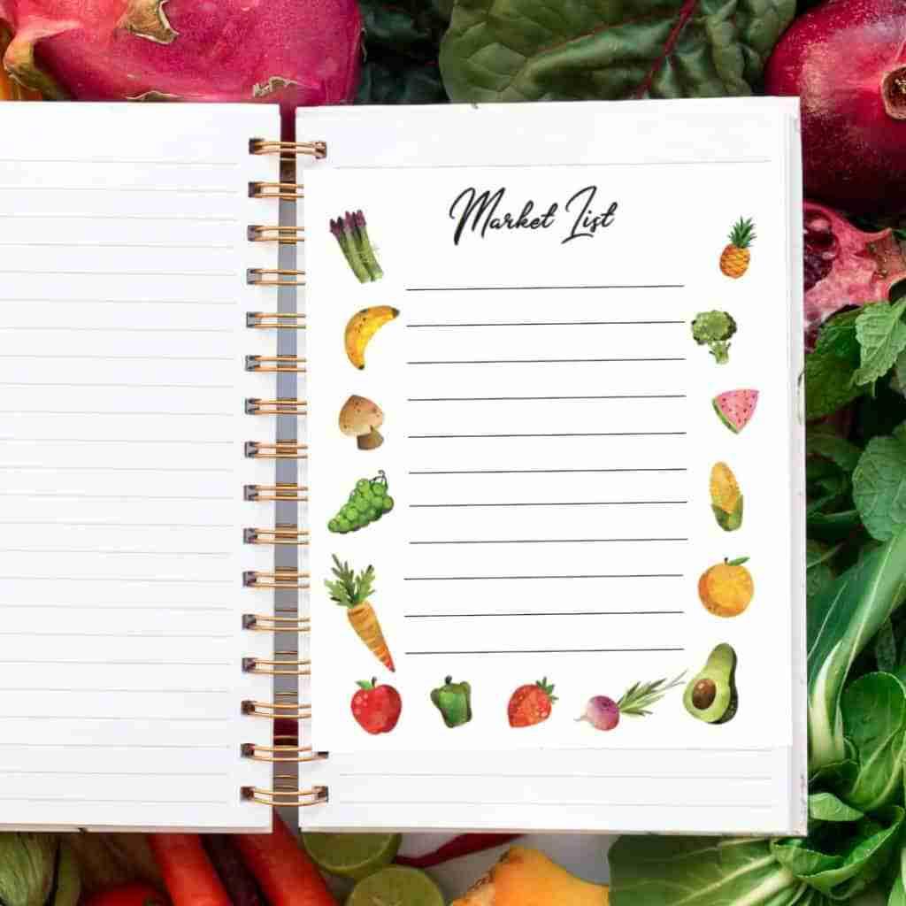 market list grocery list store list free stuff freebies free printables