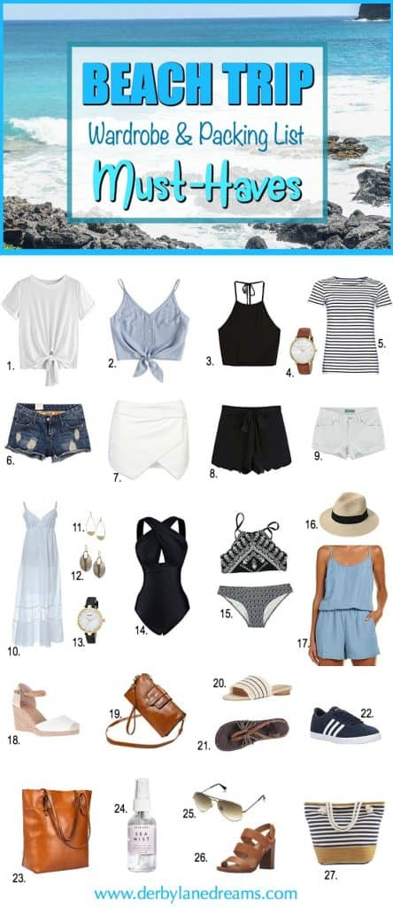 beach-trip-wardrobe-and-packing-list