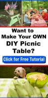 Derby Lane Dreams Outdoor Furniture easy DIY cheap kid's picnic table tutorial