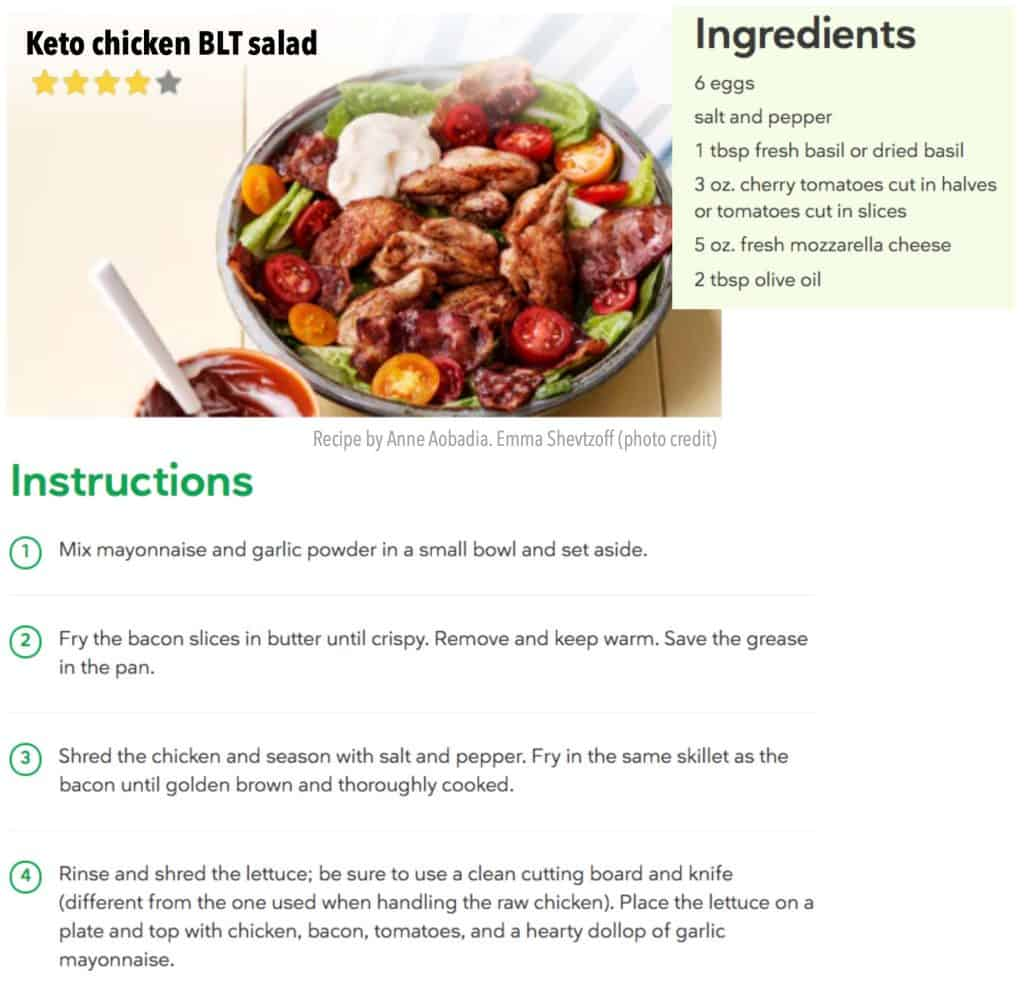 Keto diet and recipes for rapid weight loss