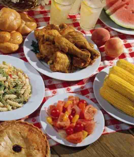 good food on a table