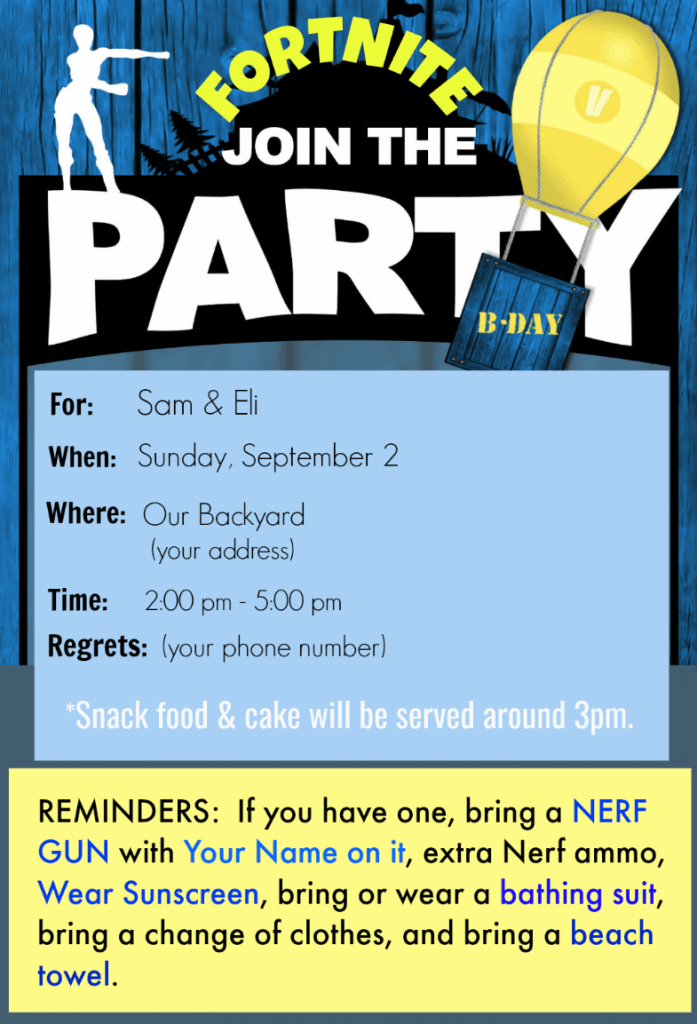 Fortnite Birthday Party Ideas Party Planner and Checklist