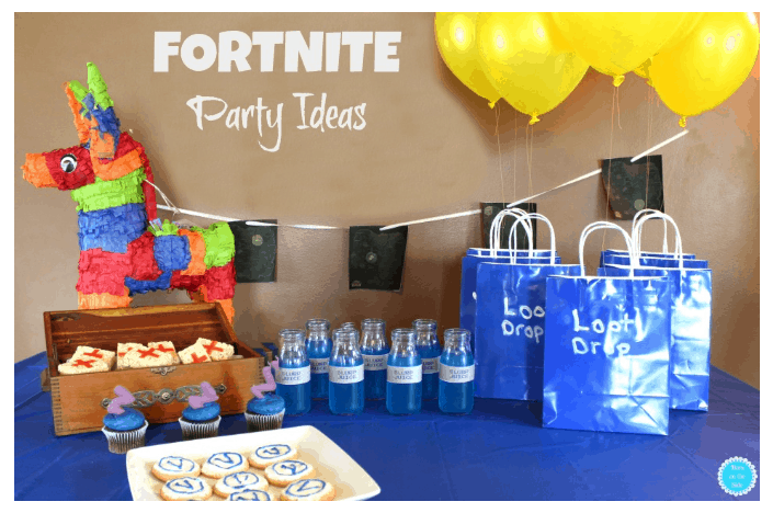 pic Roundup of Fortnite Birthday Party Ideas