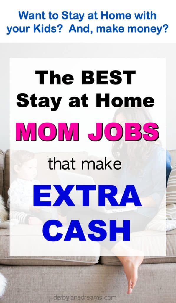Mom on couch with child best mom jobs from home for extra cash