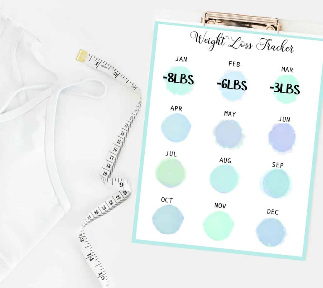 measuring tape and weight loss tracker to track your weight loss