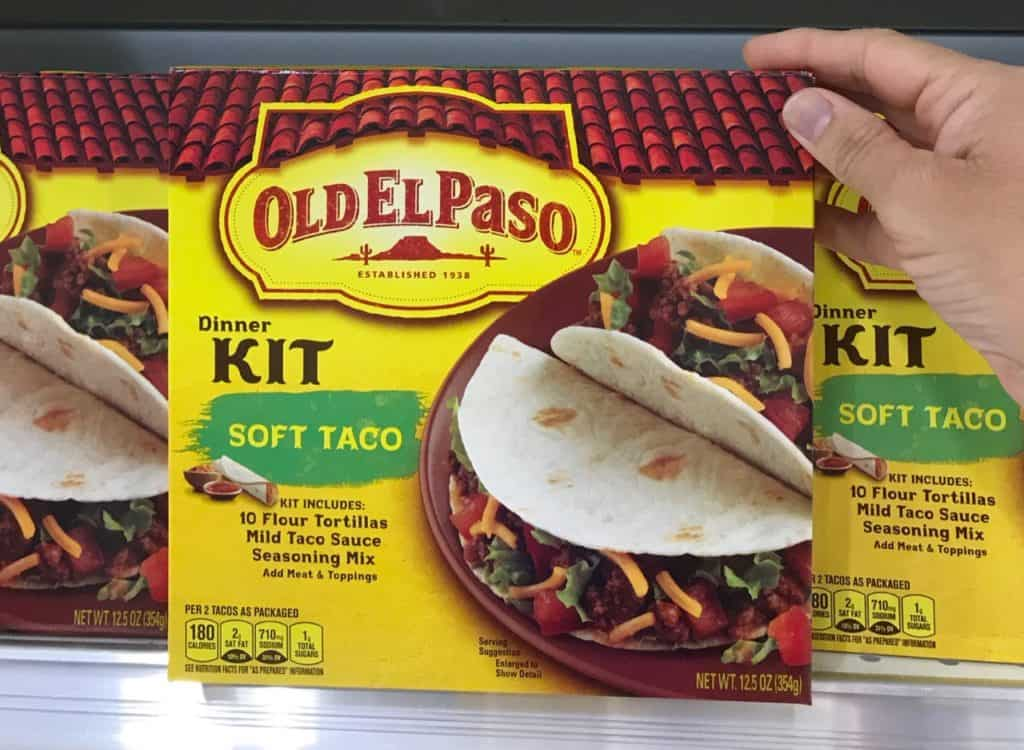 General Mills old el paso taco kit quick meals during the week