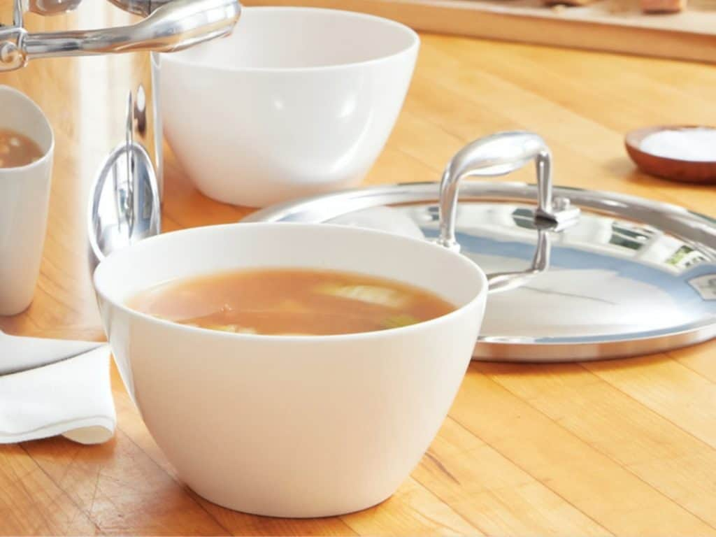 bone broth, soup bowl, cup of bone broth
