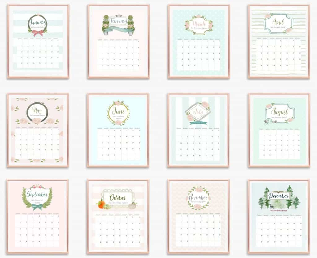 French-country calendar