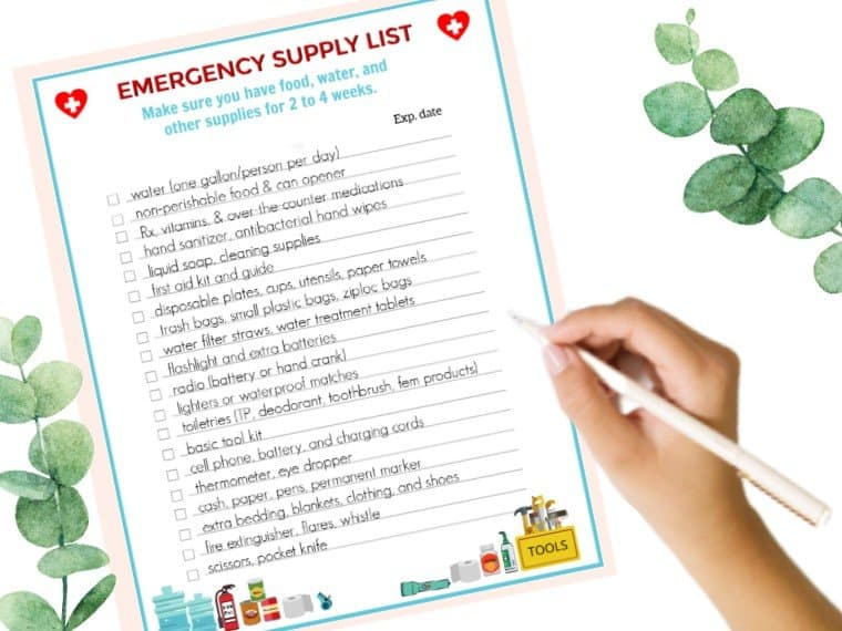 Emergency Supply Checklist to prepare for a Pandemic