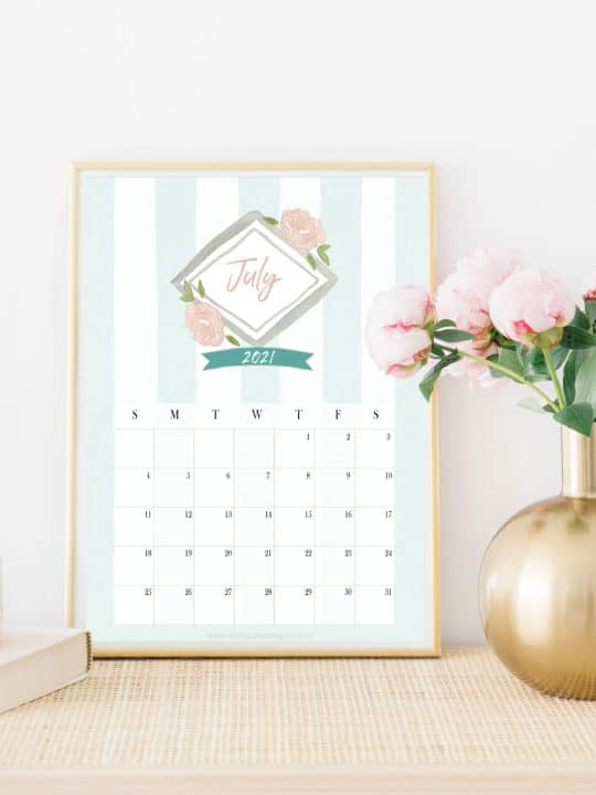 2021 Free Printable Monthly Calendar