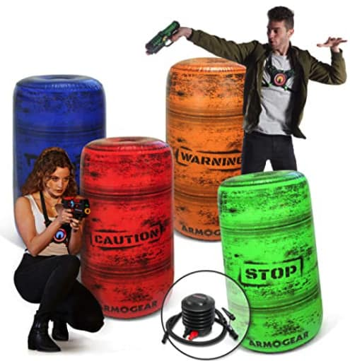 Inflatable Battle Barrels.