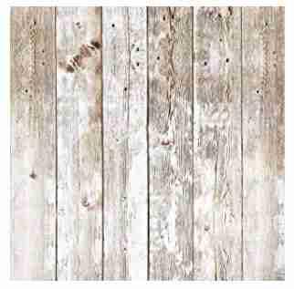 Wood-look backdrop.
