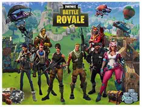 Fortnite Battle Royale Background.
