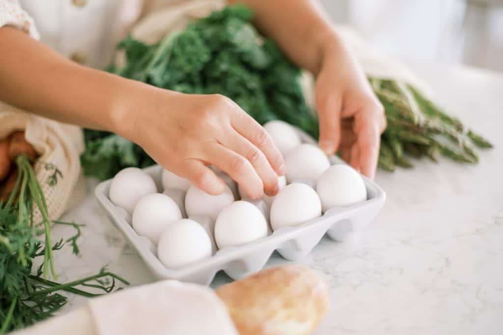 Start Keto Diet boiled eggs on table