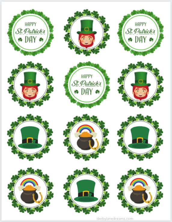 Keto St. Patrick's Day cupcake toppers 2.