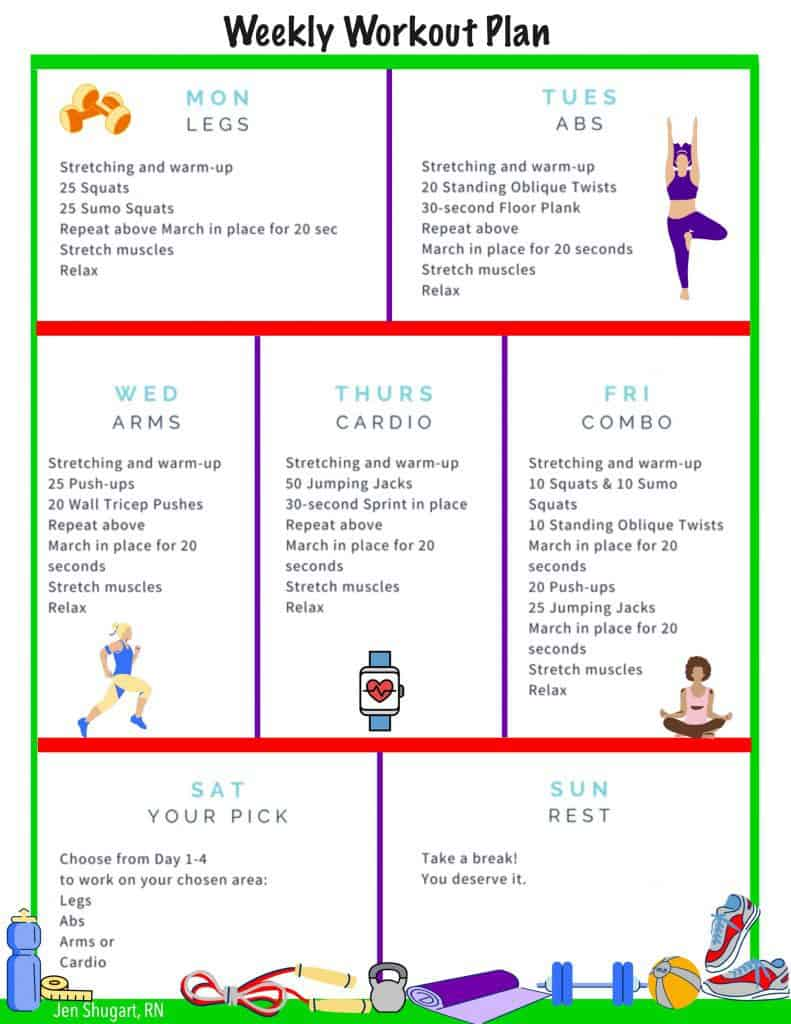 Weekly Workout Plan - Keto, Low-carb living