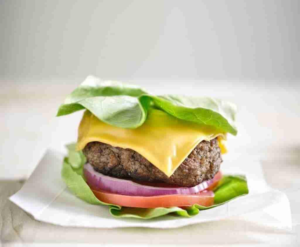 Burger with no bun.