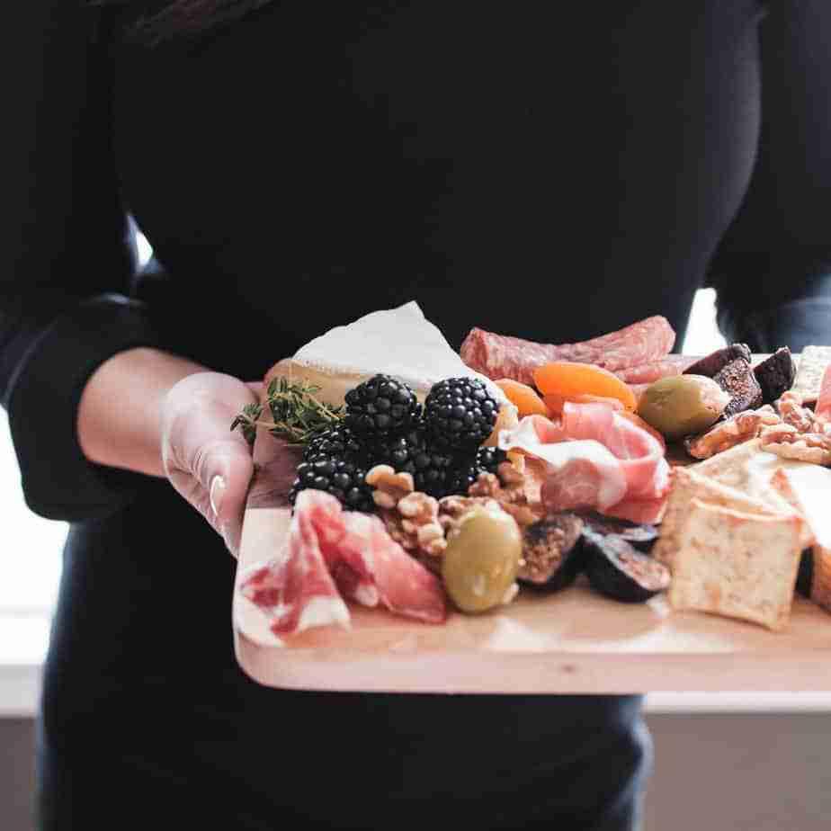 Keto diet snacks serving board