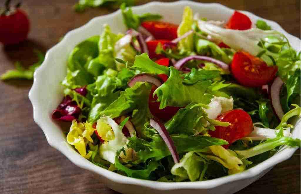 Low-carb salad at a fast food restaurant.