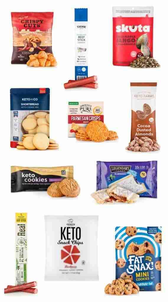 11 snacks in the KetoKrate.