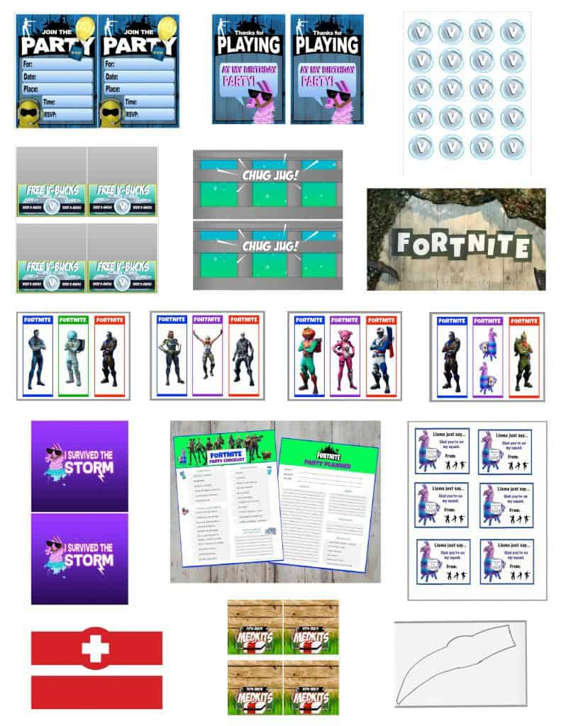 Fortnite Party Printables.