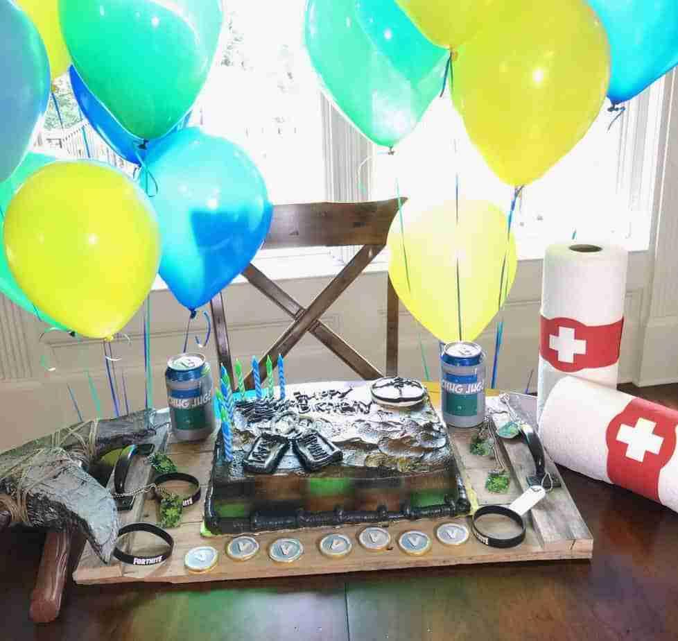 Fortnite Birthday Party Cake.