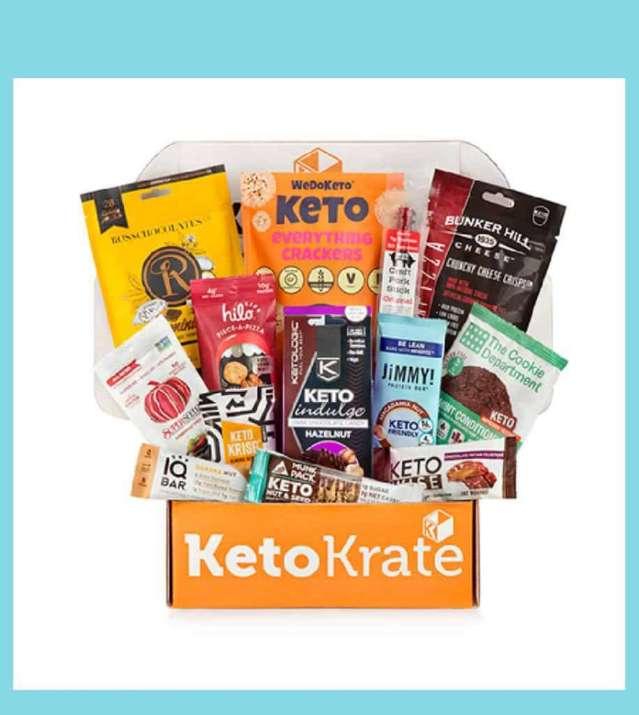 Keto and low-carb snacks in KetoKrate.
