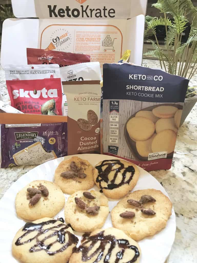 Keto cookie mix with chocolate syrup.